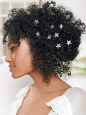natural afro wedding hair