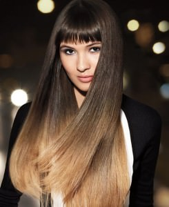 Ombre blunt hair cut, edmonton afro hair salon
