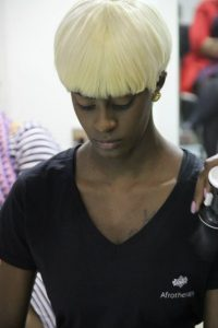 blonde afro hair, afrotherapy hairdressers, edmonton, london