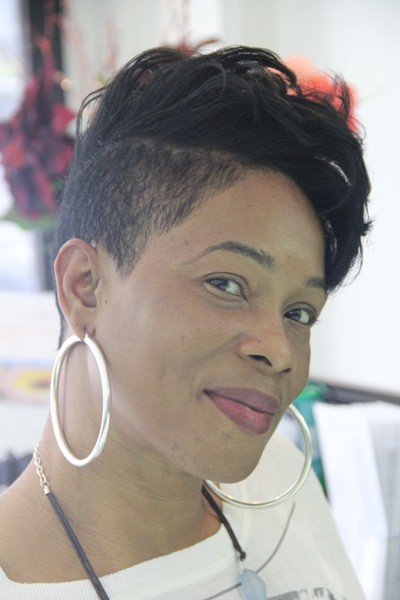 short tapered haircut at afro specialist hair salon in london