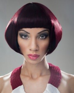 red bob for black hair