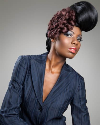 contemporary afro hair
