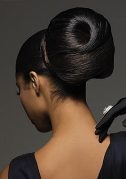 afro-updo