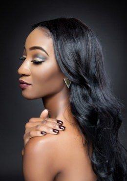 wavy afro hair