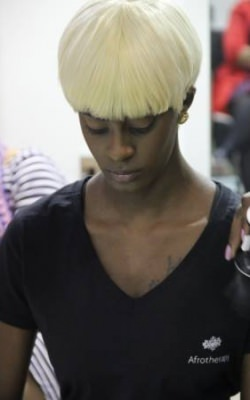 fashion afro hair colour
